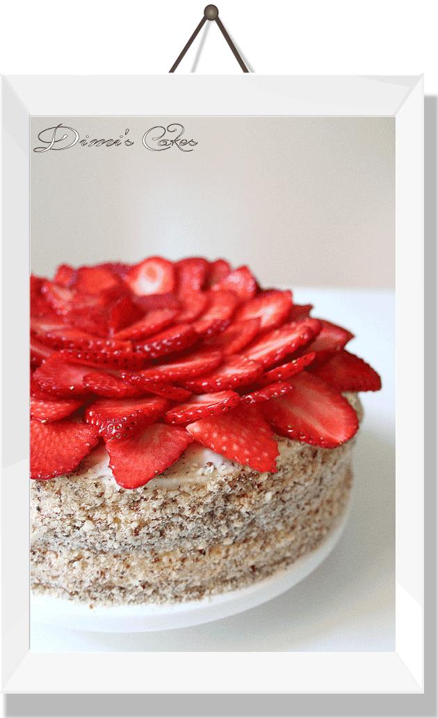 Gâteau-aux-fraises-fraîches