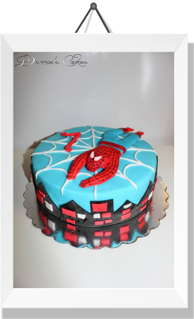 Spiderman-gâteau-pour-l'anniversaire-de-Salvador